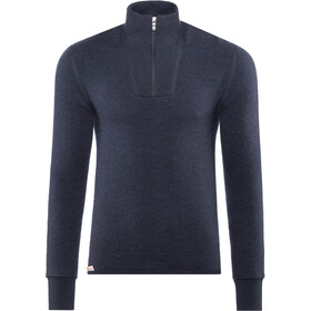 Woolpower 400 Sweat-shirt à col roulé avec demi-zip Homme, dark navy